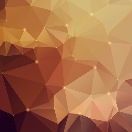 Stylish amber-colored abstract polygonal background Illustration
