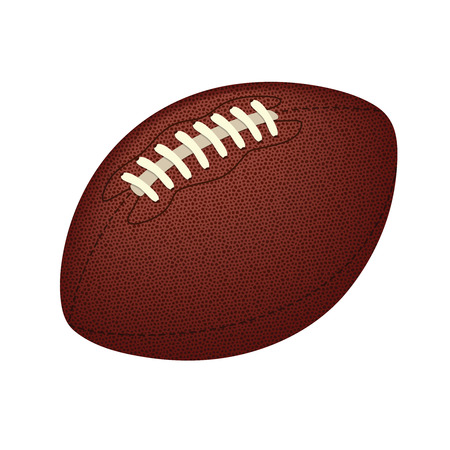Realistic vector american football ball isolated on white background