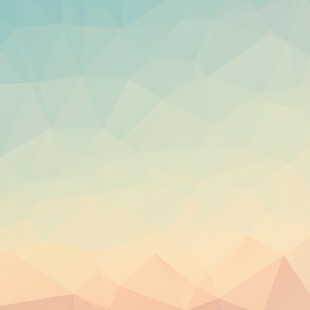Stylish light blue orange mosaic vector abstract background Vettoriali