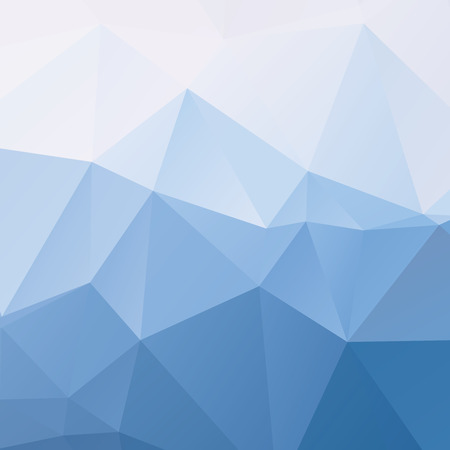 Stylish sky blue vector polygonal background with triangles Vettoriali