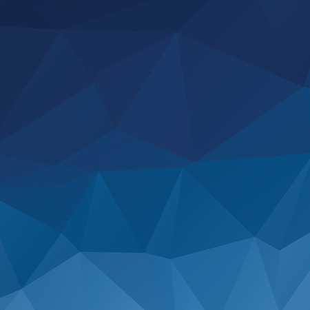 Stylish deep blue vector abstract background with triangles