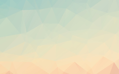 Stylish light blue orange abstract polygonal vector wallpaper background Иллюстрация