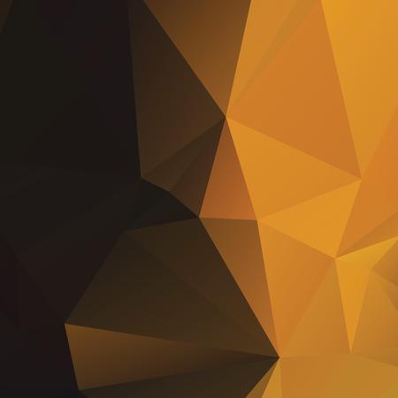 Warm amberkleurige veelhoekige achtergrond Stock Illustratie