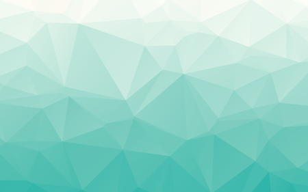 Stylish gradient tender turquoise polygonal abstract wallpaper background Vettoriali