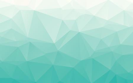 Stijlvolle gradiënt tender turquoise veelhoekige abstract wallpaper achtergrond Stock Illustratie