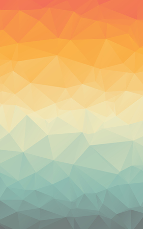 Stylish colorful gradient polygonal abstract vector vertical background