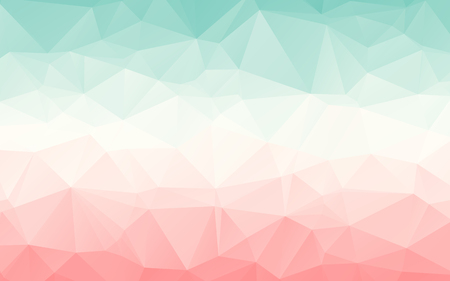 Gradient turquoise light red pink vector polygonal abstract wallpaper