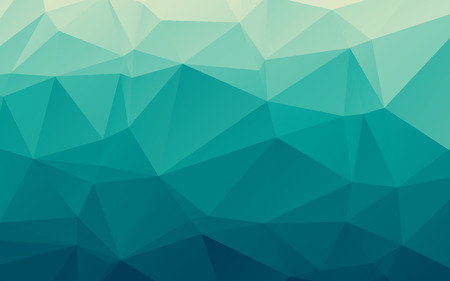 and turquoise: Stylish sea blue vector polygonal abstract background