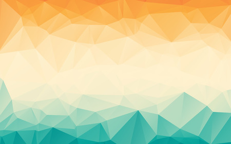 and turquoise: Colorful orange blue gradient polygonal abstract wallpaper background