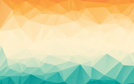 Färgrik orange blå lutning polygonal abstrakt bakgrundsbild Illustration
