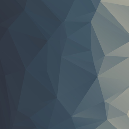 Stylish vector gradient deep blue polygonal abstract background