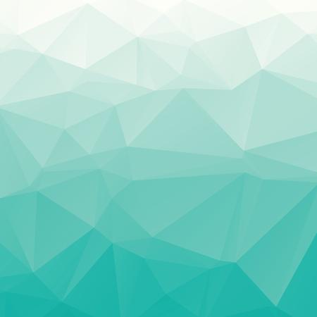 Gradiente fresco turquesa vector poligonal fondo abstracto Vectores