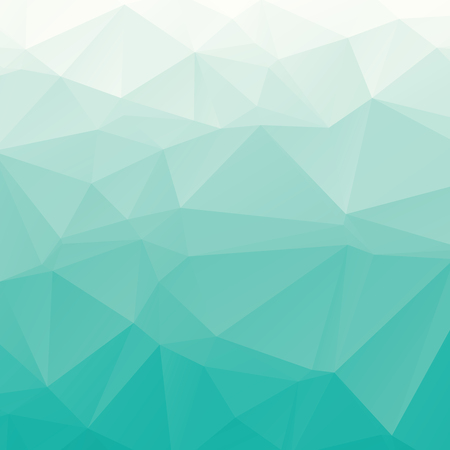 Fresh gradient turquoise vector polygonal abstract background