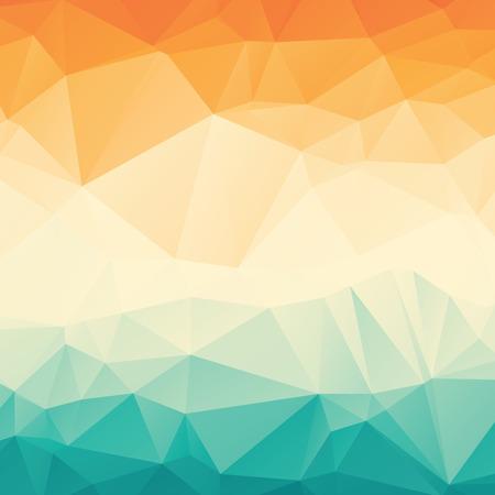 Stijlvol kleurrijke oranje blauw gradient veelhoekige achtergrond Stock Illustratie