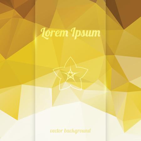 Bandera del vector de cristal vertical en brillante amarillo dorado elegante fondo abstracto Vectores