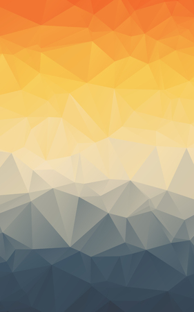 Stylish orange blue gradient polygonal vertical vector wallpaper