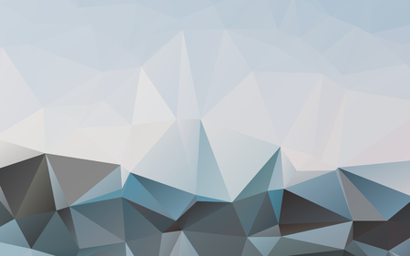 Stylish vector cold blue polygonal abstract wallpaper