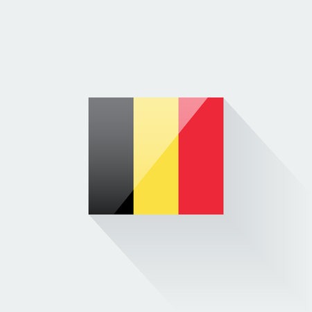 proportions: Belgian flag glossy icon. Correct proportions and color scheme. Illustration