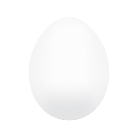 huevo blanco: huevo de gallina blanca aislada en el fondo blanco