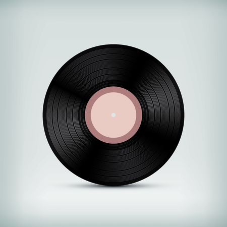 Vector blank vinyl record template
