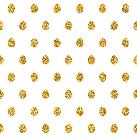 golden egg: seamless pattern with shiny golden glitter eggs. Easter golden egg concept background.