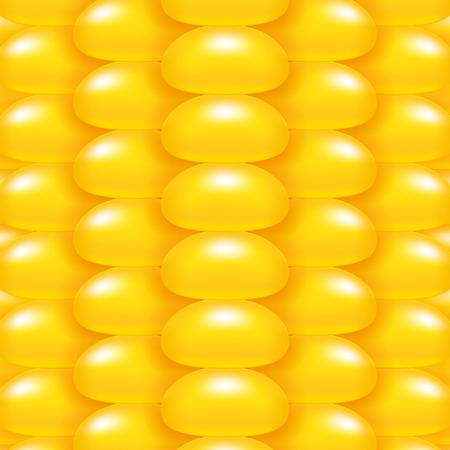 Glänzend frischen Mais close-up-Vektor-Hintergrund. Goldgelb Maismuster.
