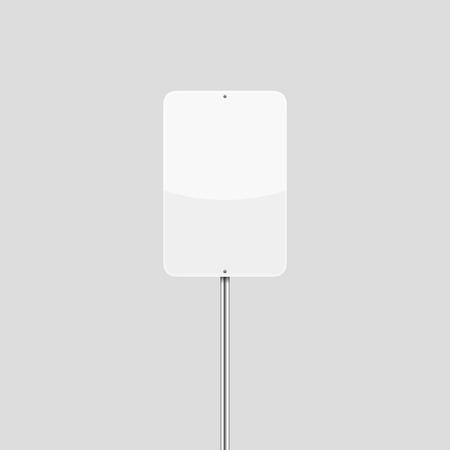 Blank White Vertical Rectangular Vector Traffic Sign Illustration
