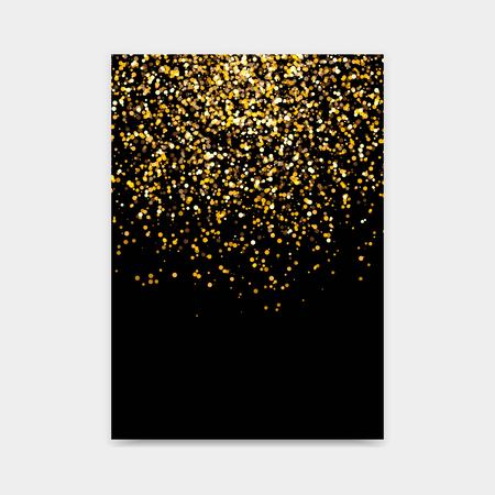 handout: Vector abstract golden glitter design template for brochures, flyers, posters, banners and other graphics