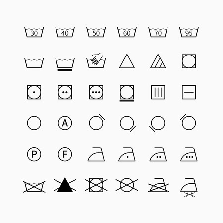 Guide To Laundry Care Symbols Royalty Free Cliparts Vectors And