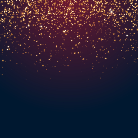 Transparent vector golden glitter shiny sparkles abstract Christmas background Иллюстрация