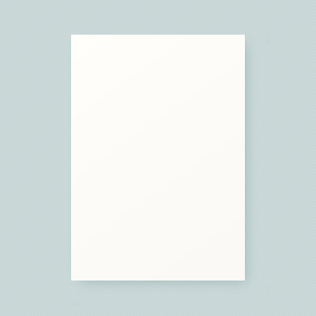 Clean white blank vector realistic paper sheet mock up template.