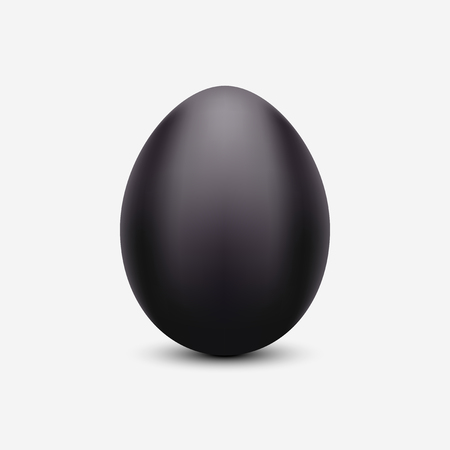 Vector black egg. Shiny isolated Easter black egg concept icon for your design. Иллюстрация