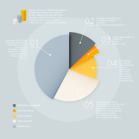 Pie chart diagram vector infographics design element mockup template Фото со стока - 110270110
