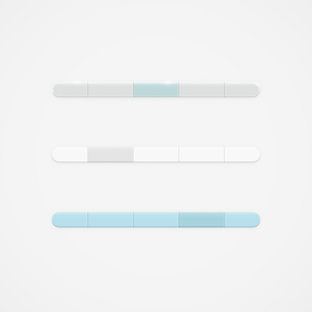Simple clean vector navigation bar drop down menu template set