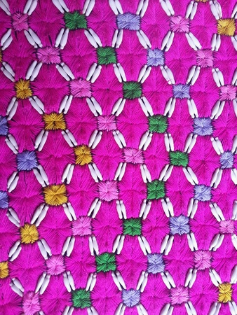 colour: Designs on shirt handmade Stock Photo