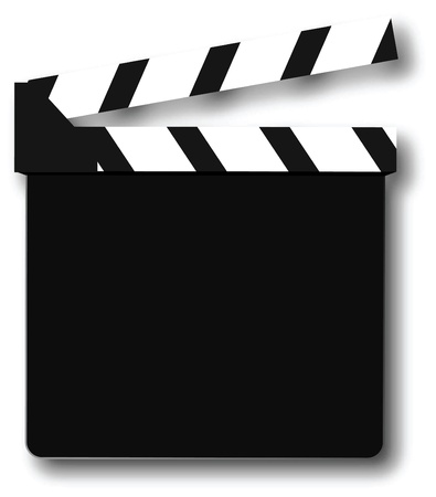 Clapper board on white background Stock Vector - 18586801
