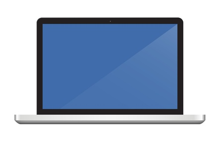Laptop Computer display isolated on white. Vector eps10 Stock Vector - 18586637