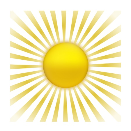EPS Vector 10 - sun with sunburst Vector