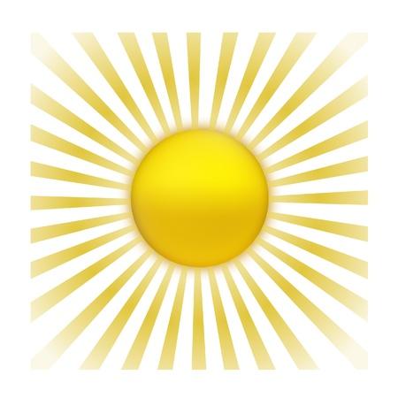 EPS Vector 10 - sun with sunburst