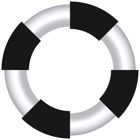 EPS-10 Vector of design element as shape of life buoy