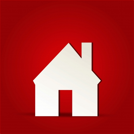 EPS Vector 10 - home house icon on isolated on red Vector
