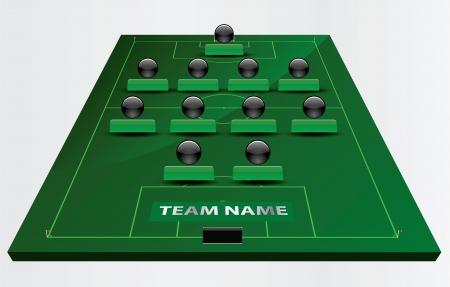 EPS のベクトル 10 - フィールド サッカーまたはフットボール競技場