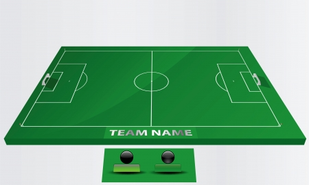 EPS Vector 10 - soccer field or football field Vector