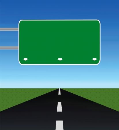 puste drogi przez pola z pustego znakiem dróg