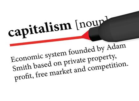 capitalismo: definição do dicionário do capitalismo Ilustração