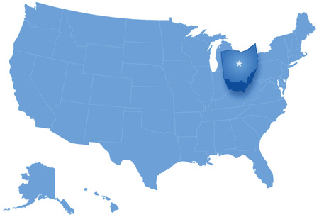 Political Map Of United States With All States Where Ohio Is - Ohio on a us map