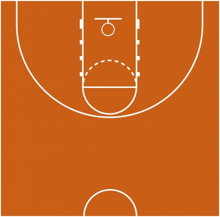 Vector Illustration of the Basketball Court Field Ground Vector