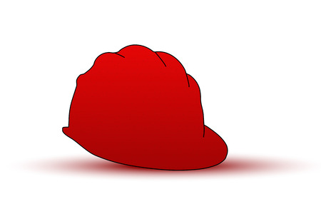 mine site: EPS-10 Vector, miners hard hat helmet in red