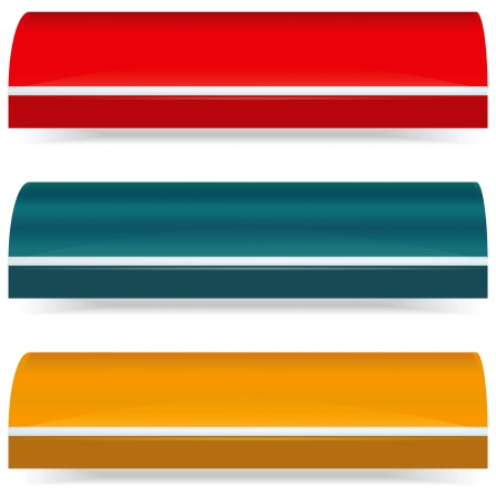 awnings: Colorful set of plain color awnings Stock Photo