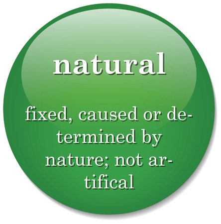 pertaining: Illustration of dictionary definition of the term  natural